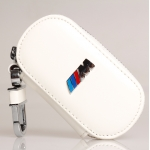 BMW - M REAL LEATHER CAR KEY CASE (WHITE)
