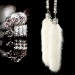 DAD GARSON - MINK CRYSTAL CHAIN WHITE