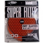 HKS - SUPER FILTER 200MM DRY 3 LAYERS (RED)